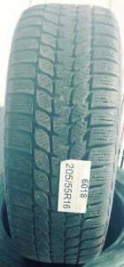 PNEUS HIVER USAGÉS / USED WINTER TIRES 205/55R16 20555R16 BRIDGESTONE BLIZZAK LM-25 RUNFLAT