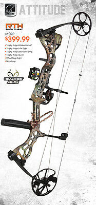New Bear Archery Attitude RTH 70# Right Hand Compound Bow Realtree APG Camo