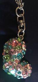 Long Heart Sparkle Necklace