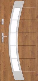 EXTERNAL COMPOSITE FRONT STEEL DOOR PARIS WITH DOOR FRAME MADE IN EU