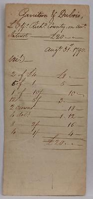 1790 Staten Island New York Land Office Document Garritson Garretson Dubois