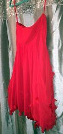 9. Short red dress - size 14 - no straps - Coast - Asking Price £35 ono