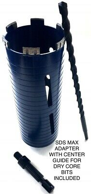 3 Dry Diamond Core Bit For Concrete With Sds Max Adapter Center Guide