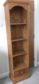 Solid pine bookcase display unit