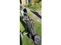 Mitsushiba Golf Trolley and Callaway Golf Bag