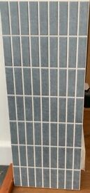 Grey ceramic wall tiles : 15m2 in original boxes