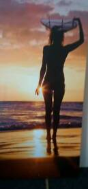 Surfer girl canvas