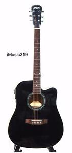 Free delivery Acoustic Electric Guitar Pre amp Black 41 inch iMusic219