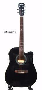 Acoustic Electric Guitar for beginners Black 41 inch iMusic219
