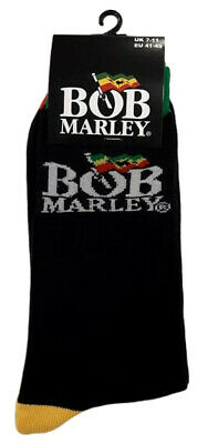 Bob Marley 'Logo' (Black) Socks (One Size = UK 7-11) - NEW & OFFICIAL!