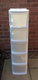 Plastic Slim Tower Storage Unit