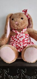 LOVELY BUILD A BEAR BUNNY WITH DRESS