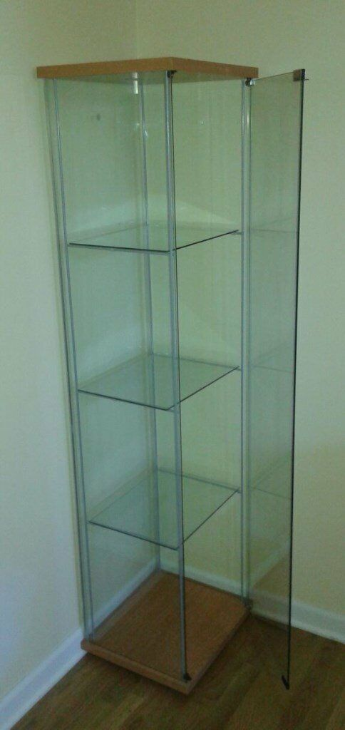 Detolf Glass Door Cabinet Black Brown In North West London