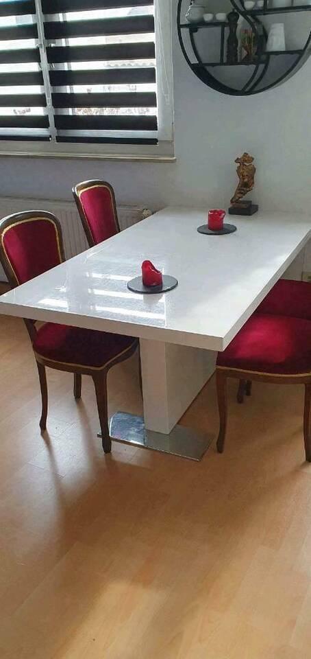 Esstisch 160 Hochglanz weiß Tisch in Wiesbaden - Mainz-Kastel