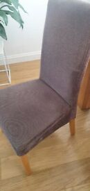 6 x Dark grey dining chairs
