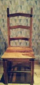 Price drop - 2 solid wooden kitchen chairs