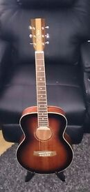Tanglewood Nashville IV TNM AV Travel Acoustic Guitar In Antique Violin Gloss With Hard Case