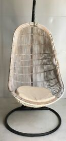 Awesome Chair Basket Rattan 100% WMexclusivehomeUk