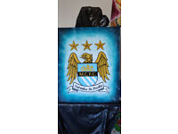 Man City painting acrylic on canvas picture hand made