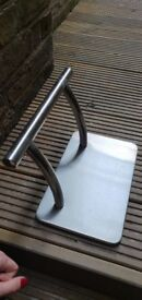 Stainless steel foot rest
