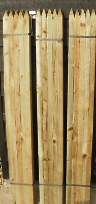 40 x 1.5m (5ft) tall x 32mm wooden square treated stakes posts - next day!