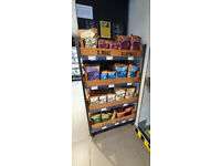 Retail Furniture Display Stands & Units - Metal Trolley Unit & Vintage Chitting Trays