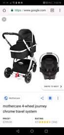 Mothercare journey pram set