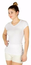 V-Neck Cotton T-Shirt White