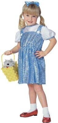 Mädchen Kind der Zauberer von oz Pailletten Dorothy Kostüm