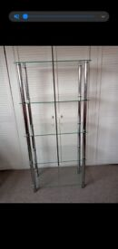 Stunning glass shelving unit
