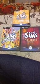 3 sims pc games - on holiday, house party, and hot date