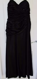 Black strapless gown that can be used for a wedding dress