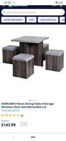 Space saver table and 4 stool exc condition
