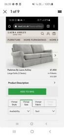 Laura Ashley Eloise Off White Sofa & Chair