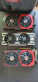 Nvidia - GPU - mining - gaming - 1070 8GB - ETH - GTX