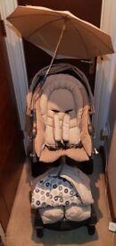 STOKKE Xplory V2 2006 Pushchair Parasol Footmuff Seat Newborn Insert *Quick Sale* O.N.O