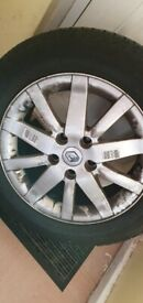 Renault megane/scenic alloy with 205/60r16 tyre with loads of tread