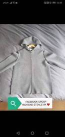 MONCLER BLACK LABEL MADE IN ITALY HOODED TOP 1 M/L - £510 RRP