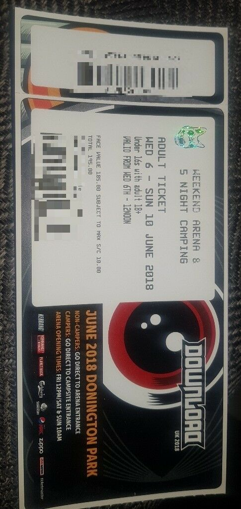 2 x download festival 2014 weekend arena & 5 day camping + car.