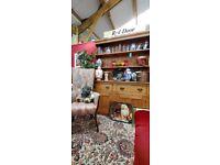Rustic Farmhouse Antique Stripped Pine Welsh Dresser.