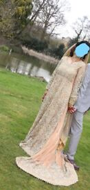 Wedding dress,Asian,Peach Color,Heavy embellishment and beaded,New 2018 design,Indian,pakistani,