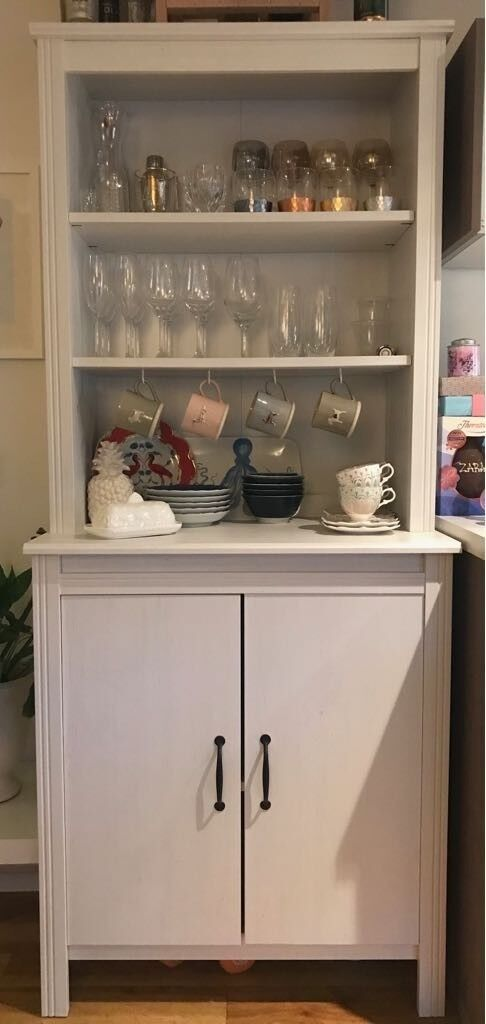 Ikea Brusali High Kitchen Cabinet With Doors Aka Welsh Dresser White