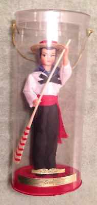 Vintage Eros Gondolier  59 Italy Doll Red Blue Black Oar Children Collection