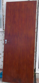 Two interior panelled wood doors - will sell separately.