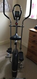 Cross trainer and exercise bike. Great Christmas present!