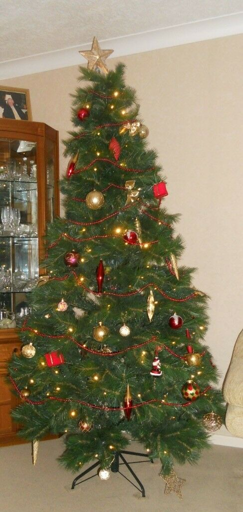 Collapsible Christmas Tree.Artificial Christmas Tree 7 Tall With Lights Collapsible In Loughborough Leicestershire Gumtree
