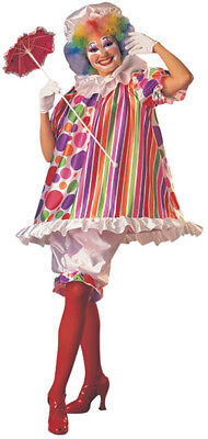 Woman Adult Betty Brite Fancy Dress CLOWN Costume](Betty Brite)