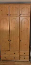 Wooden Pine Wardrobe