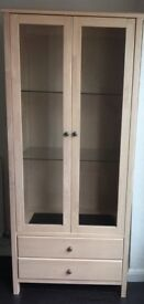 Homebase Display Cabinet: Maple with Basalt insets. Good condition