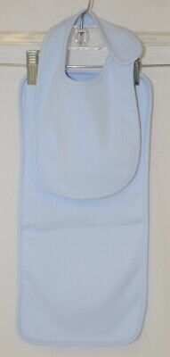 Blanks Boutique Light Blue Cotton Baby Bib And Burp Cloth Set Boutique Baby Burp Cloth